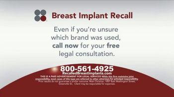 Sokolove Law TV Spot, 'Breast Implant Recall' - Thumbnail 5