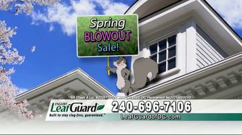 LeafGuard of DC Spring Blowout Sale TV Spot, 'Where We Come In'