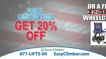 Easy Climber TV Spot, '20 Percent Off or Free Zinger Wheelchair' - Thumbnail 8