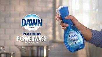 Dawn Platinum Power Wash TV Spot, 'Spray, Wipe & Rinse' - Thumbnail 3