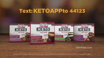 SlimFast Keto Fat Bomb Peanut Butter Cup TV Spot, 'Have One: Text' - Thumbnail 9