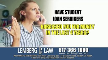 Lemberg Law LLC TV Spot, 'Student Loan Debt Harassment' - Thumbnail 1