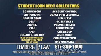 Lemberg Law LLC TV Spot, 'Student Loan Debt Harassment' - Thumbnail 4