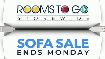 Rooms to Go Storewide Sofa Sale TV Spot, 'Big Savings: Fabric and Sleepers' Song by Junior Senior - Thumbnail 1