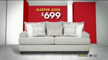 Rooms to Go Storewide Sofa Sale TV Spot, 'Big Savings: Fabric and Sleepers' Song by Junior Senior - Thumbnail 4