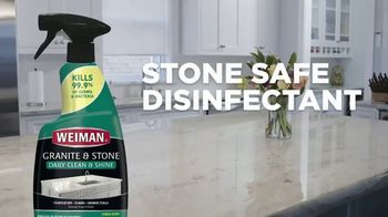 Weiman Disinfectant Granite & Stone Daily Clean & Shine TV Spot, 'Disinfect Granite & Other Types of Natural Stone'