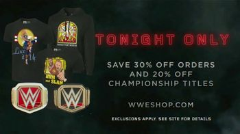 WWE Shop TV Spot, 'Crafted By History: 30 Percent off Orders & 20 Percent off Titles' - Thumbnail 7