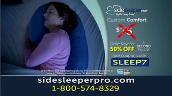 Side Sleeper Pro TV Spot, 'Tried Everything: 50 Percent Off a Second Pillow' - Thumbnail 7