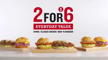 Arby's 2 for $6 Everyday Value Menu TV Spot, 'All Other Days' Song by YOGI - Thumbnail 1