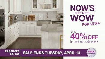 Cabinets To Go TV Spot, 'Now's the Time to Wow for Less: 40% Off' Featuring Bob Vila - Thumbnail 6