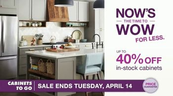 Cabinets To Go TV Spot, 'Now's the Time to Wow for Less: 40% Off' Featuring Bob Vila - Thumbnail 7
