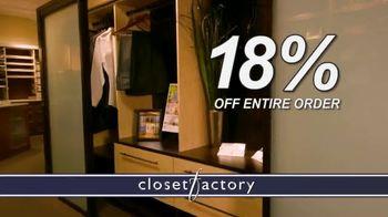 Closet Factory TV Spot, 'Putting Off Projects'