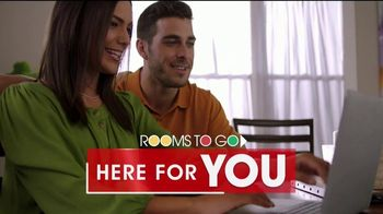 Rooms to Go TV Spot, \'Here for You: Online\'