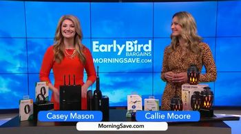 MorningSave Early Bird Bargains TV Spot, 'Smart Watch, Bluetooth Tracker and Flame Speaker' - Thumbnail 1