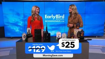MorningSave Early Bird Bargains TV Spot, 'Smart Watch, Bluetooth Tracker and Flame Speaker' - Thumbnail 4