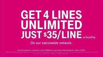 T-Mobile TV Spot, 'Taxes and Fees Included: 4 for $35' - Thumbnail 3