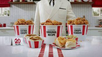 KFC $20 Fill Ups TV Spot, 'Entrega gratis y drive-thru abierto' [Spanish] - 1250 commercial airings