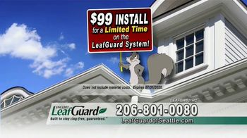 LeafGuard of Seattle $99 Install Sale TV Spot, 'Birds, Rodents and Insects' - Thumbnail 6