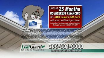 LeafGuard of Seattle $99 Install Sale TV Spot, 'Birds, Rodents and Insects' - Thumbnail 7
