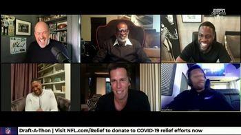 NFL Draft-A-Thon TV Spot, 'Stuck in the Car' Feat. Kevin Hart, Tom Brady, Russell Wilson - Thumbnail 3
