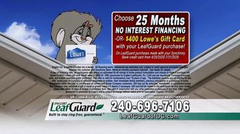 LeafGuard of DC $99 Install Sale TV Spot, 'Mother Nature Never Takes a Day Off' - Thumbnail 9