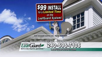 LeafGuard of DC $99 Install Sale TV Spot, 'Mother Nature Never Takes a Day Off' - Thumbnail 3