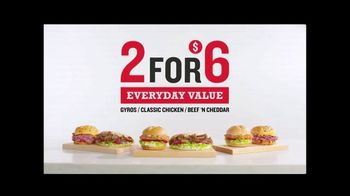 Arby's 2 for $6 Everyday Value Menu TV Spot, 'Yell It From the Rooftops: Gyro' Song by YOGI - Thumbnail 6