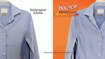 Bounce WrinkleGuard TV Spot, 'Three Times More Wrinkle Relaxant'