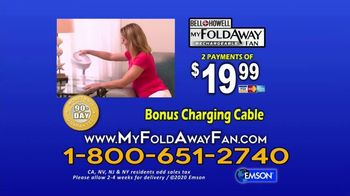 My Foldaway Fan TV Spot, 'Compact Cordless Fan' - Thumbnail 10