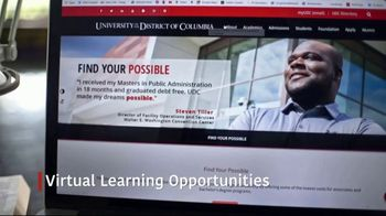 University of the District of Columbia TV Spot, 'Virtual Learning Opportunities' - Thumbnail 4