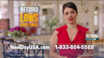 NewDay USA VA Streamline Refi TV Spot, 'Record Low Mortgage Rates Even Lower' - 86 commercial airings