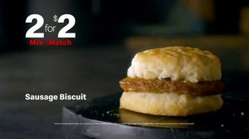 McDonald's Mix & Match 2 for $2 TV Spot, 'Breakfast Favorites: Sausage Biscuit' - Thumbnail 4