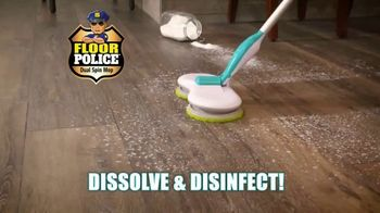 Floor Police Dual Spin Mop TV Spot, 'Scrub Away Messes'