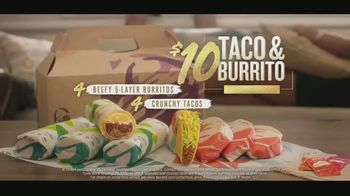 Taco Bell $10 Taco and Burrito Cravings Pack TV Spot, 'Silence'