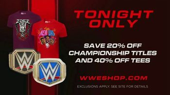 WWE Shop TV Spot, 'Energize Your Style: 20% Off Championship Titles and 40% Off Tees' Song by Easy McCoy - Thumbnail 8