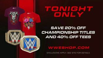 WWE Shop TV Spot, 'Energize Your Style: 20% Off Championship Titles and 40% Off Tees' Song by Easy McCoy - Thumbnail 7