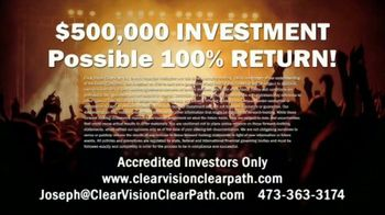 Clear Vision Clear Path Inc. TV Spot, 'Invest in Entertainment' - Thumbnail 7