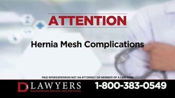 Langdon & Emison Attorneys at Law TV Spot, 'Hernia Mesh Complications' - Thumbnail 1