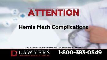 Langdon & Emison Attorneys at Law TV Spot, 'Hernia Mesh Complications' - Thumbnail 2