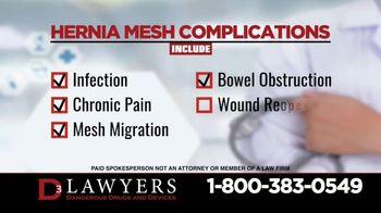 Langdon & Emison Attorneys at Law TV Spot, 'Hernia Mesh Complications' - Thumbnail 4