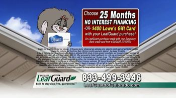 LeafGuard of Colorado $99 Install Sale TV Spot, 'Mother Nature Never Takes the Day Off' - Thumbnail 7