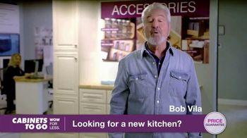 Cabinets To Go TV Spot, 'Looking for New Kitchen Cabinets' Featuring Bob Vila - 37 commercial airings
