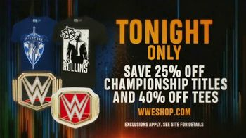 WWE Shop TV Spot, 'Bring It On: Save 25% off Titles and 40% off Tees' - Thumbnail 8