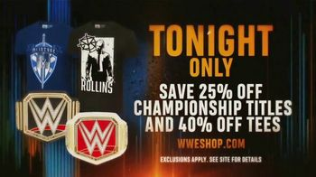WWE Shop TV Spot, 'Bring It On: Save 25% off Titles and 40% off Tees' - Thumbnail 7