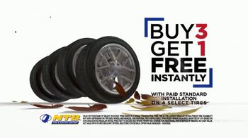 National Tire & Battery Fall Savings TV Spot, 'Buy Three, Get One Free'