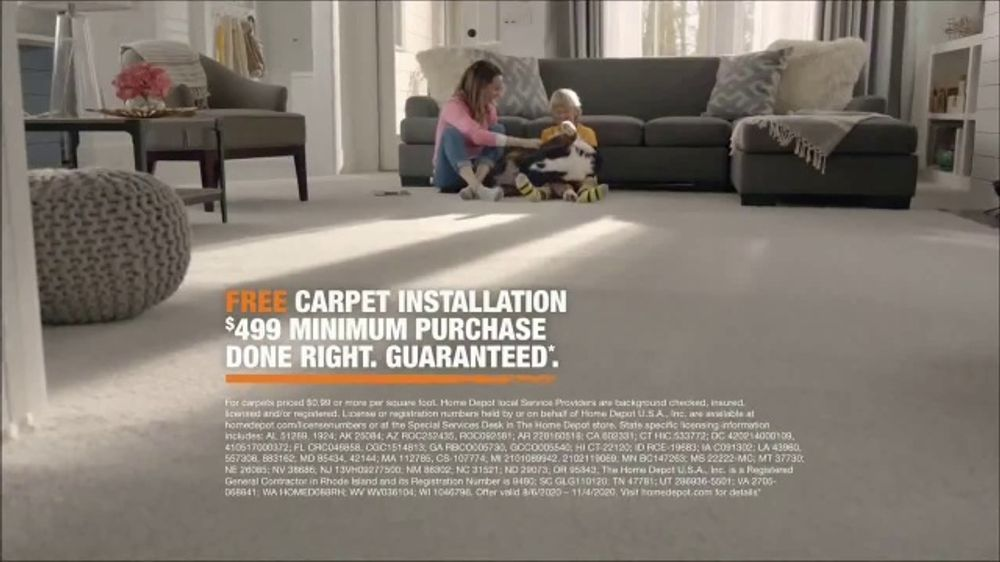 The Home Depot Tv Commercial Filled With Memories Free Carpet Installation 499 Minimum Ispot Tv