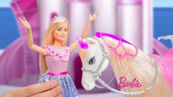 Barbie Princess Adventure Prance & Shimmer Horse TV Spot, 'Lights Up and Plays Music' - Thumbnail 3