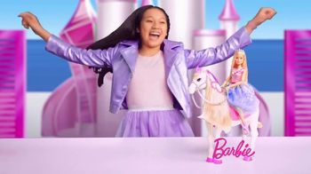 Barbie Princess Adventure Prance & Shimmer Horse TV Spot, 'Lights Up and Plays Music' - Thumbnail 6
