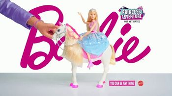 Barbie Princess Adventure Prance & Shimmer Horse TV Spot, 'Lights Up and Plays Music'