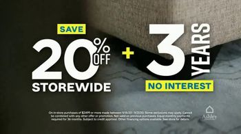 Ashley HomeStore Weekend Sale TV Spot, '20% Off Storewide and Financing' - Thumbnail 4